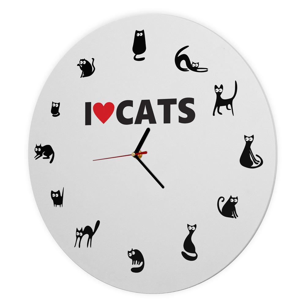 Ceas de perete - I love cats