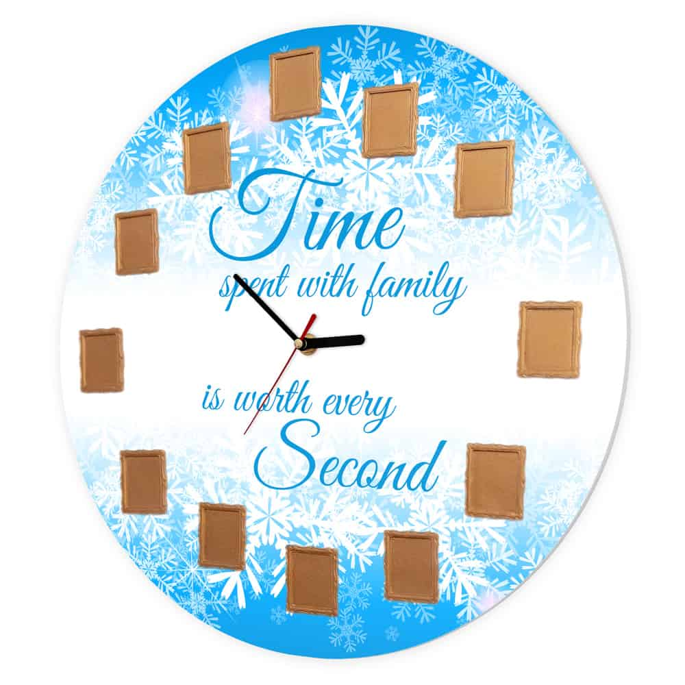 Ceas de perete - Timpul petrecut cu familia este cel mai pretios