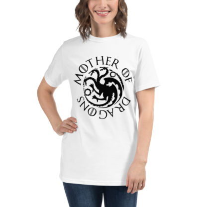 Tricou Mother of dragons - alb